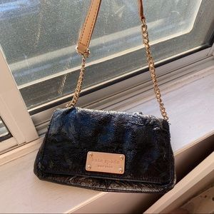 Authentic kate spade leather mini bag with gold